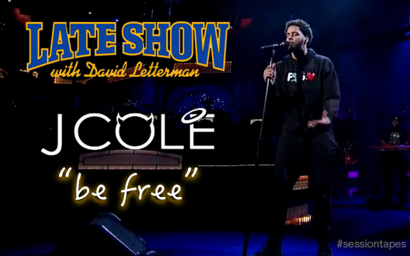 "J. Cole – ""Be Free"" Live on The Late Show with David Letterman (music download)"