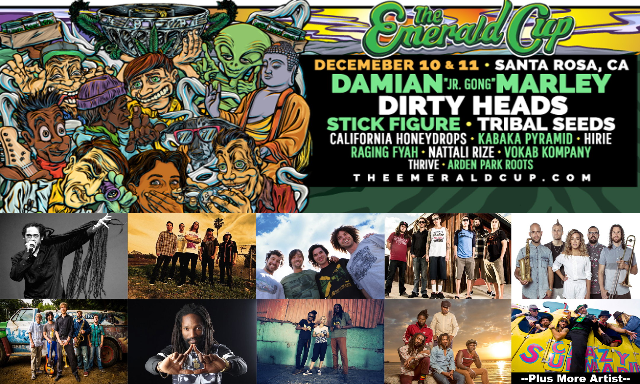 The Emerald Cup Artist Announcement (Damian Marley, Dirty Heads, Tribal Seeds, Stick Figure and More)