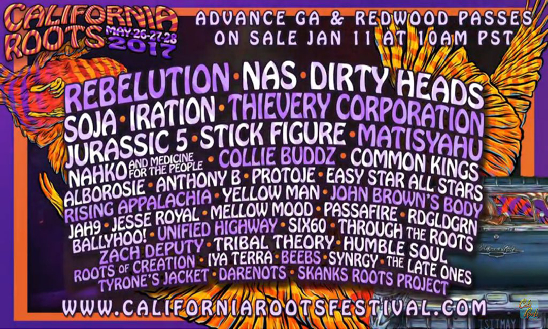 California Roots Artist Lineup Complete