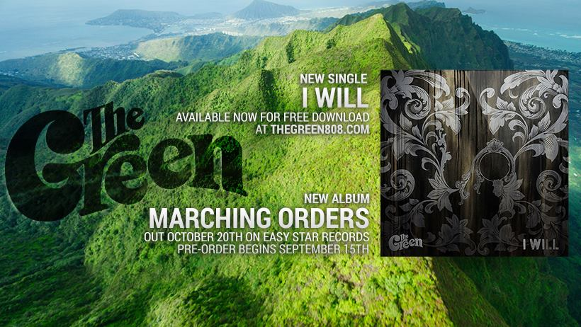 """The Green gearing up to release new album """"Marching Orders"""" & release first single """"I Will"""" #NewMusic"""