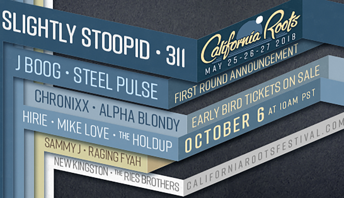 California Roots 2018 First Round Artist Line-Up Announcements