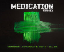 "Damian ""Jr Gong"" Marley releases Medication Remix featuring Ty Dolla $ign, Wiz Khalifa and Stephan Marley"