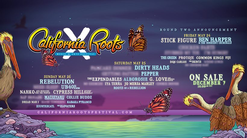 The 10th Annual California Roots Music & Artist Festivals Second Artist Announcement