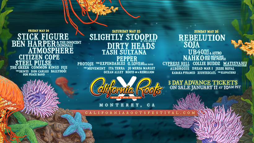 The 10th Annual California Roots Music & Artist Festivals Final Artist Announcement